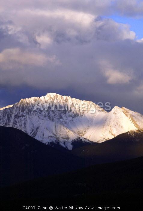 Snow Covered Colin Range, Jasper National Park, Alberta, Canada