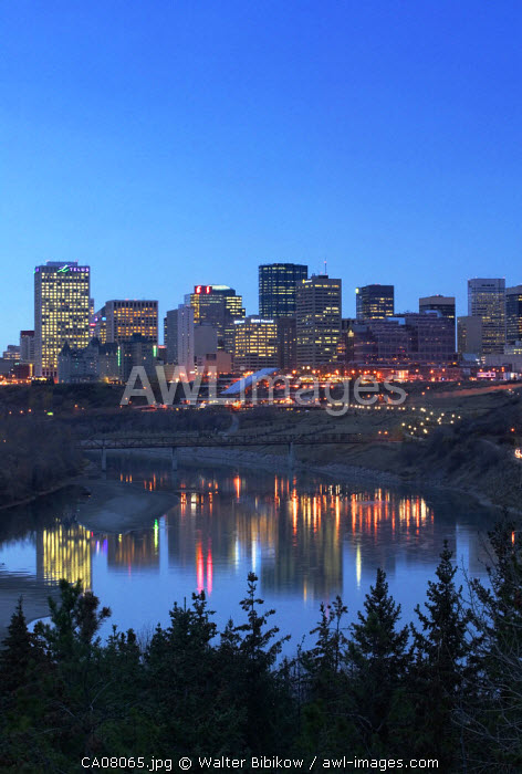 Skyline of Edmonton, Alberta, Canada