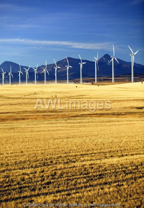 Cowley Ridge Wind Farm, Crowsnest Pass, Alberta, Canada