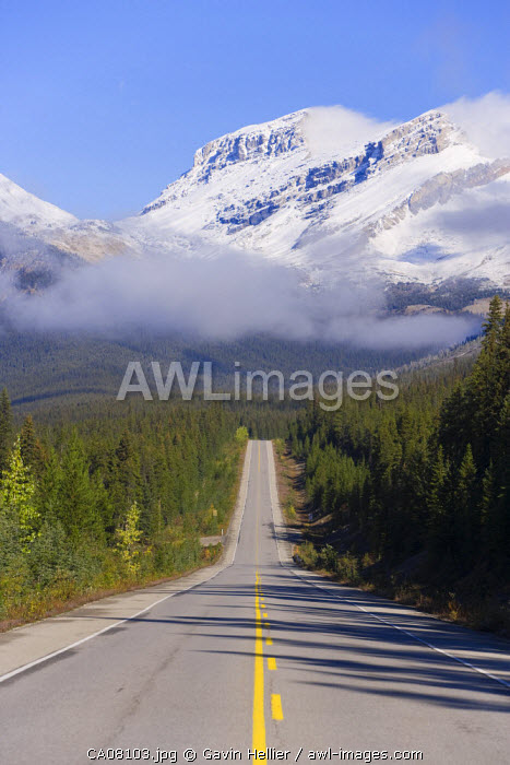 The Icefields Parkway, between Banff & Jasper in Banff-Jasper National Parks, Rocky Mountains, Canada