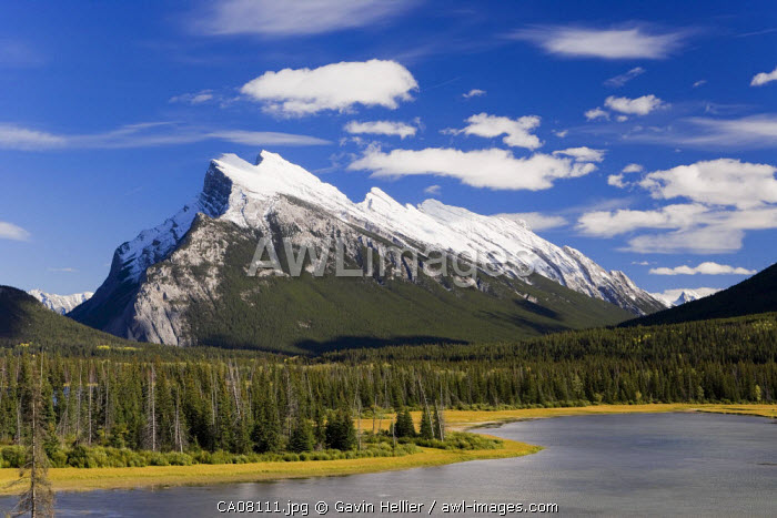 Mount Rundle and Vermillion Lakes, Banff-Jasper National Parks, Alberta, Canada