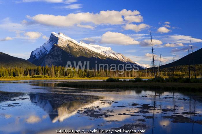 Mount Rundle and Vermillion Lakes, Banff-Jasper National Parks, Alberta, Canada