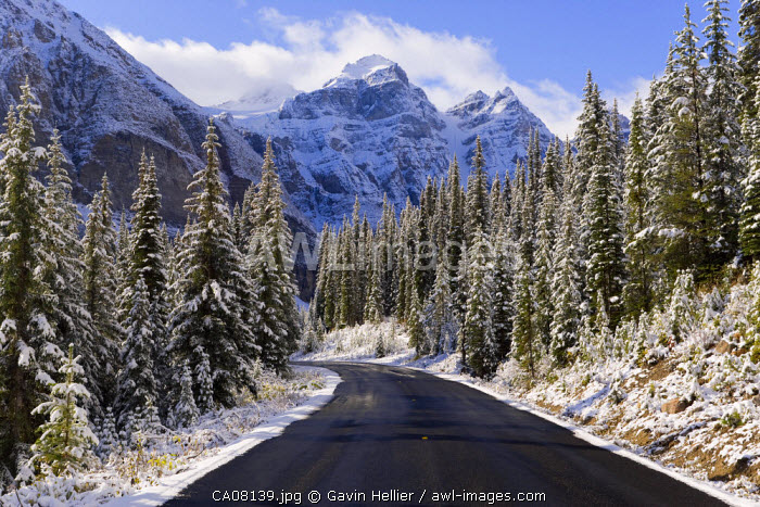 Wenkchemna Peaks (Ten Peaks) near Moraine lake, Banff National Park, Alberta, Canada
