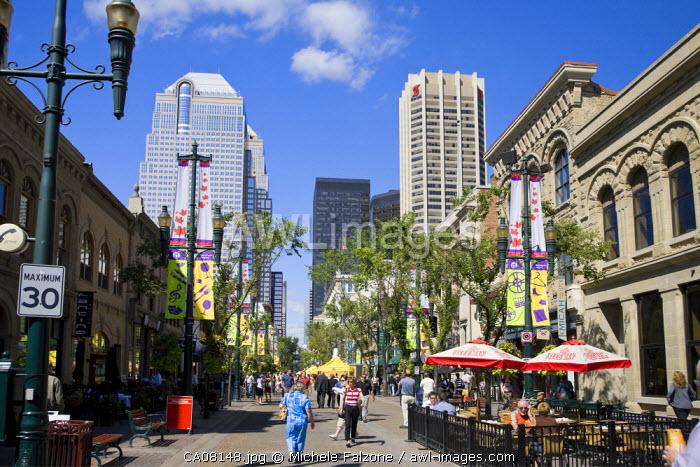Stephen Avenue Mall, Downtown Calgary, Alberta, Canada