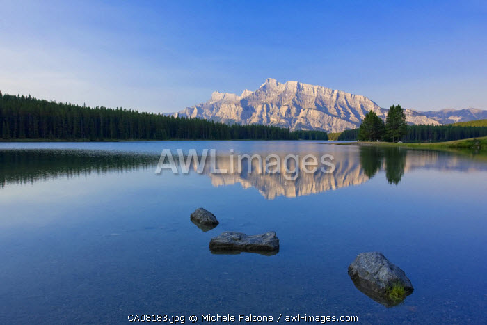 Mt. Rundle and Two Jack Lake, Banff National Park, Alberta, Canada