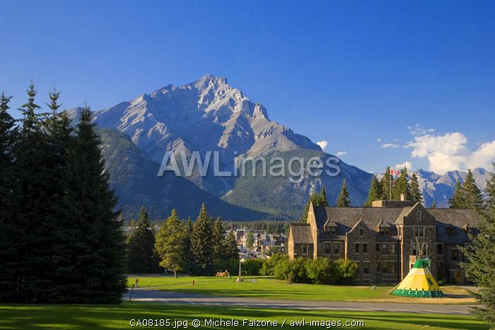 Cascade Mountain and Cascade Gardens, Banff Town, Banff National Park, Alberta, Canada