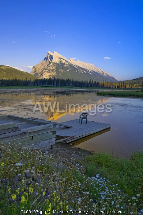 Mt. Rundle and Vermillion Lakes, Banff National Park, Alberta, Canada