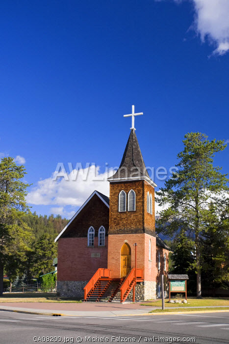 Jasper Lutheran Church, Jasper Town, Jasper National Park, Alberta, Canada