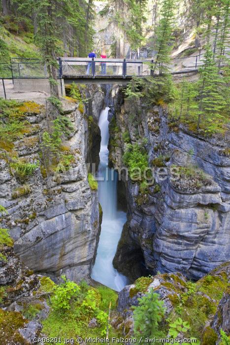Maligne Canyon and Maligne River, Jasper National Park, Alberta, Canada