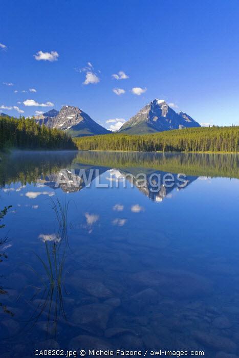 Whirlpool Peak, Mt. Fryatt & Leech Lake, Jasper National Park, Alberta, Canada