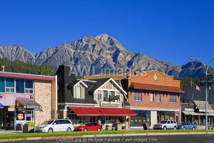 Jasper Town Resort and Pyramid Mountain, Jasper National Park, Alberta, Canada