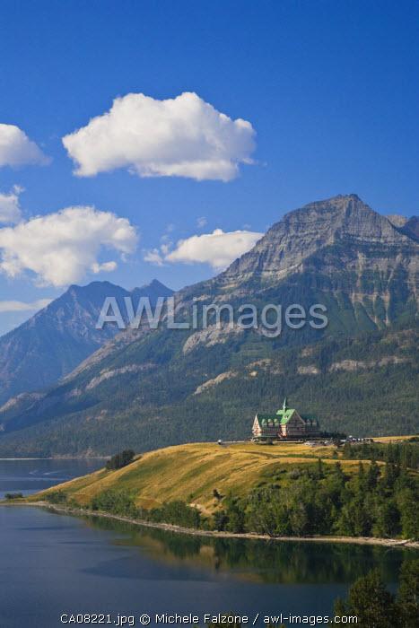 Prince of Wales Hotel & Waterton Lake, Waterton Lakes National Park, Alberta, Canada