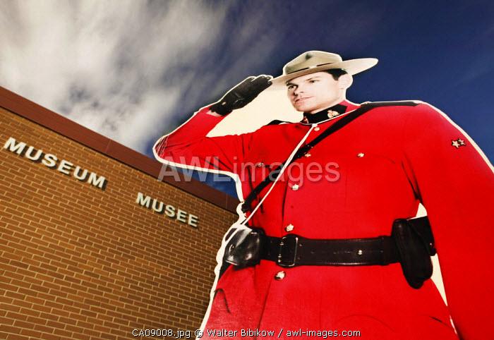 Cut out Mountie, Regina, Saskatchewan, Canada