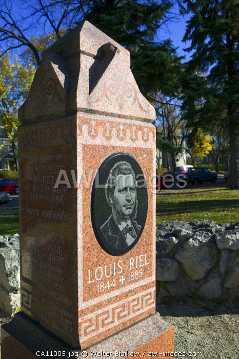Gravesite of Louis Riel, St. Boniface (French Quarter), Winnipeg, Manitoba, Canada