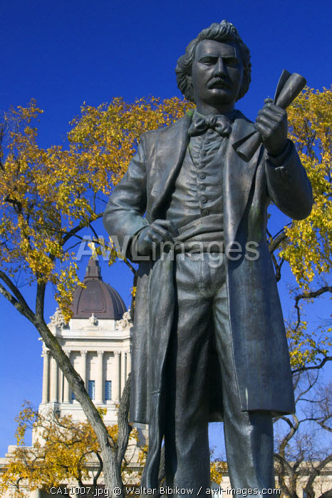 Monument to Louis Riel, Winnipeg, Manitoba, Canada