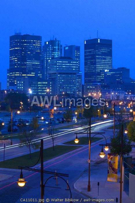 Downtown Highrise Buildings, Winnipeg, Manitoba, Canada