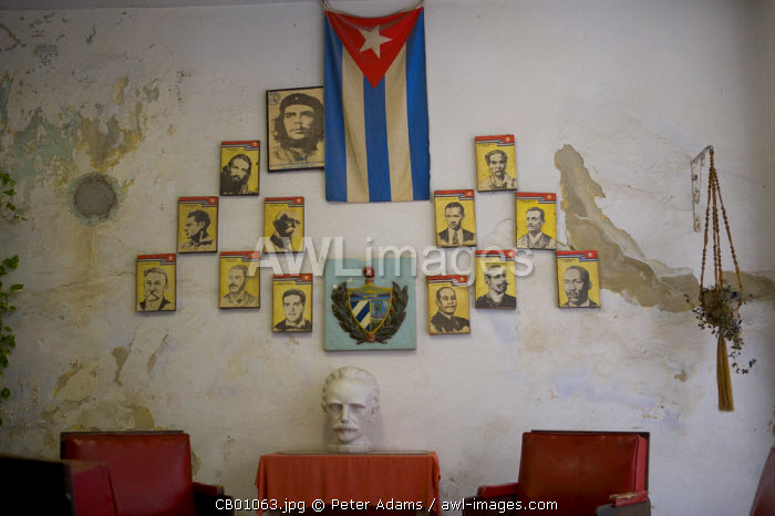 Office interior, Havana, Cuba