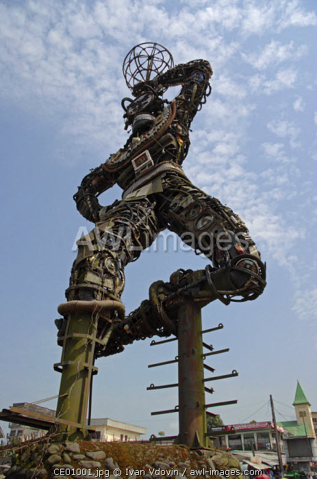 Statue de la nouvelle liberte, Douala, Littoral Province, Cameroon, Africa