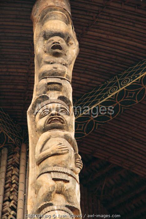 Wooden carvings, Bandjoun, NW Cameroon, Africa