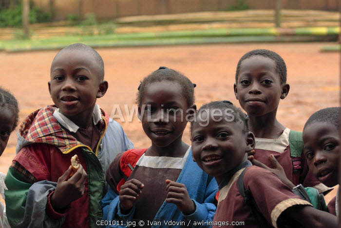 Portrait of children, Bela Village, SE Cameroon