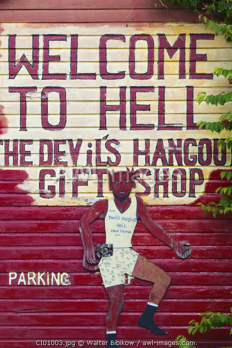 Welcome to Hell Sign, Hell, Grand Cayman, Cayman Islands, Caribbean