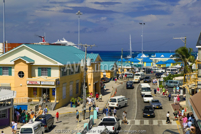 Waterfront above Harbour Drive, Georgetown, Grand Cayman, Cayman Islands, Caribbean