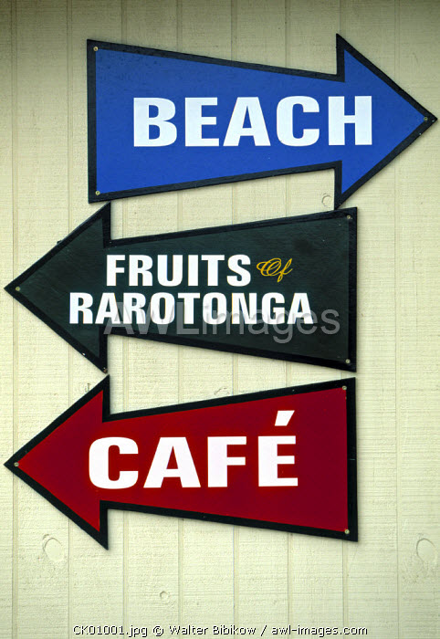 Signs, Rarotonga, Cook Islands