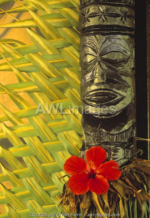 Traditional wood carving, Rarotonga, Cook Islands