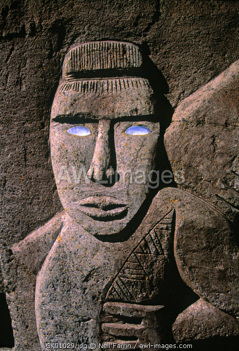 Traditional stone carving, Rarotonga, Cook Islands