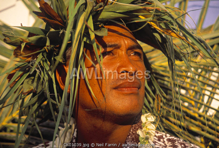 Portrait of young man, Cook Islands