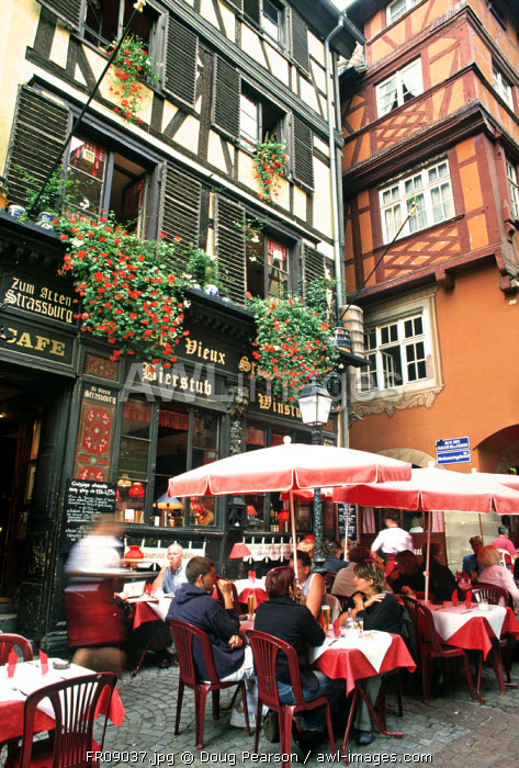 Cafe, Strasbourg, Alsace, France