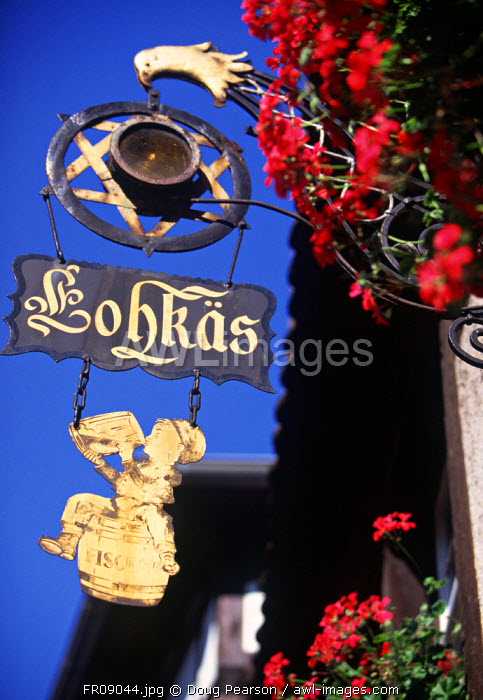 Shop Sign, Petite France, Strasbourg, Alsace, France