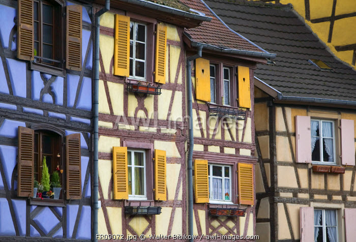 Half Timbered Houses, Colmar, Alsace, France