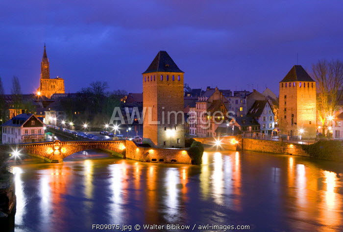 Ponts Couverts & Ill River, Strasbourg, Alsace, France