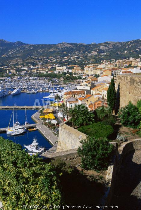 Calvi Harbour, Corsica, France