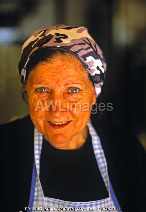 Elderly Lady, Bastia, Corsica, France