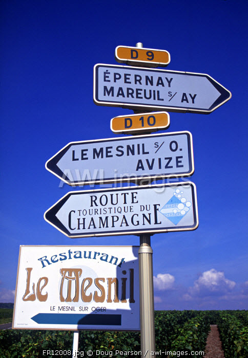Signs, Champagne, France