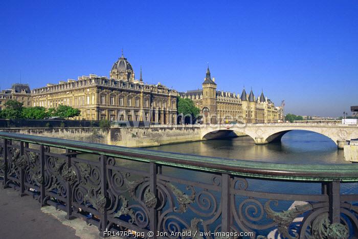 Conciergerie and River Seine, Ile de la Cite, Paris, France