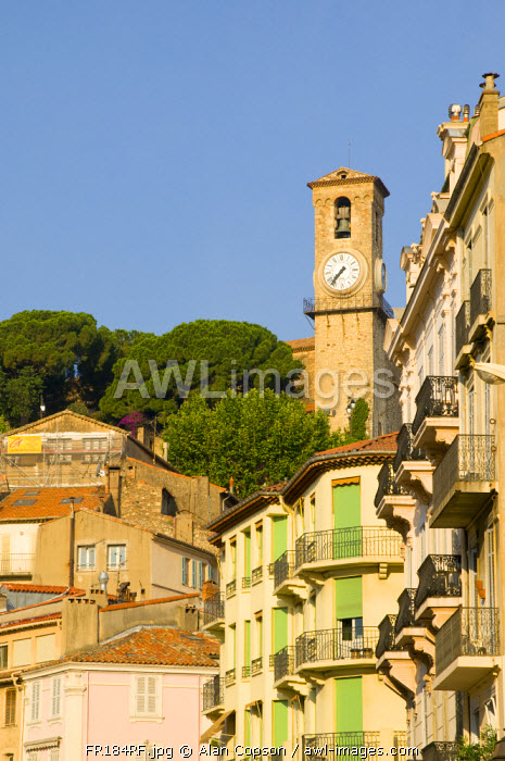 France. Provence-Alpes-Côte d'Azur. Cannes. Old Town Le Suquet.