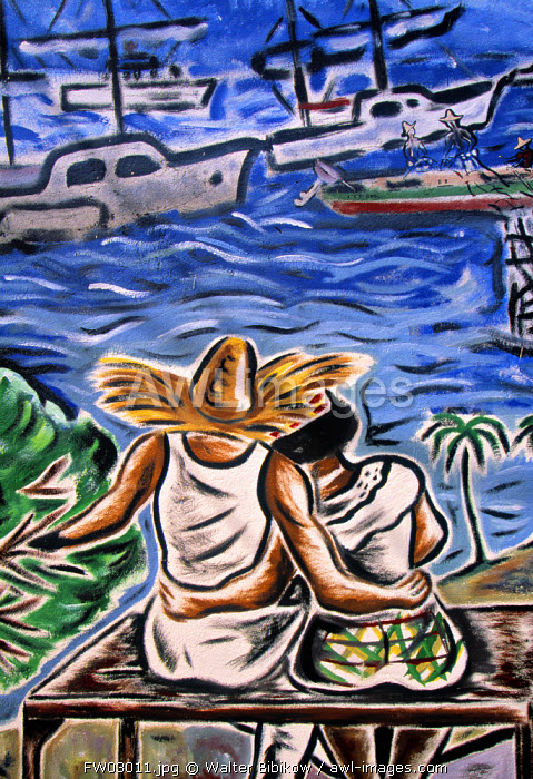 Mural, Martinique, French West Indies