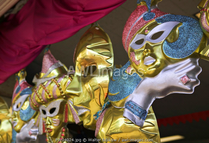 awl-images.com - French West Indies / Carnival masks, Basse Terre, Guadeloupe, French West Indies