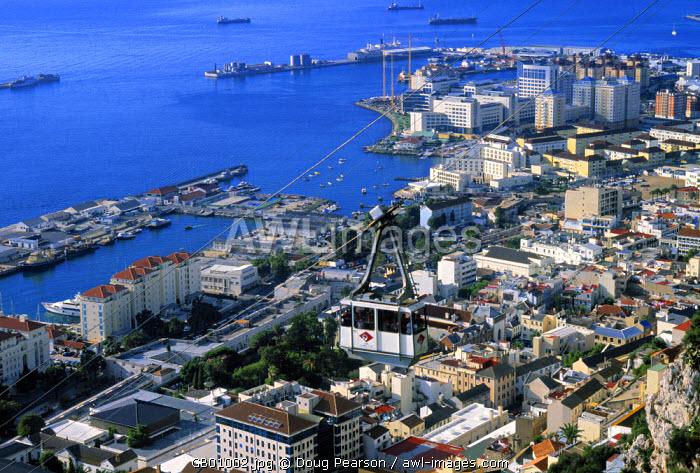 Gibraltar town from The Rock, Gibraltar
