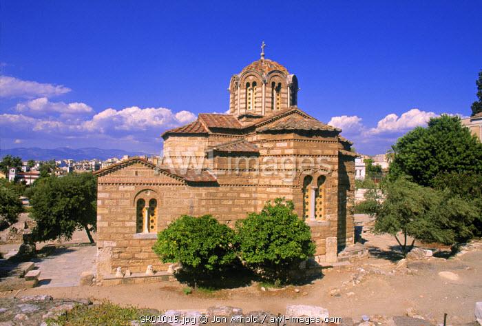Ayioi Apostoli (Byzantine Church), Athens, Greece