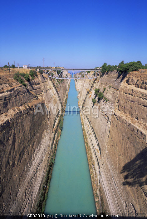 Corinth Canal, Peloponnese, Greece