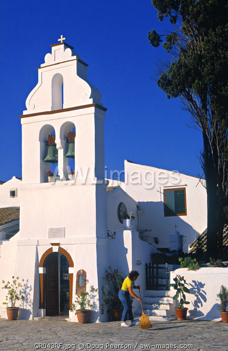 Convent of Vlachernas, Kanoni Peninsula, Corfu, Greece