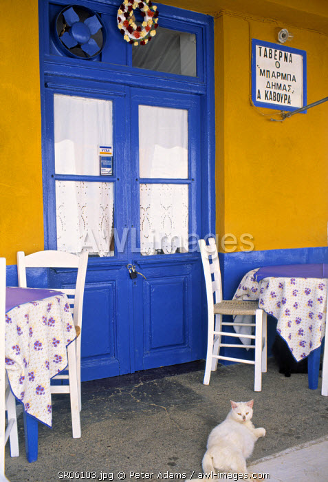 Colourful Taverna, Hydra, Greece
