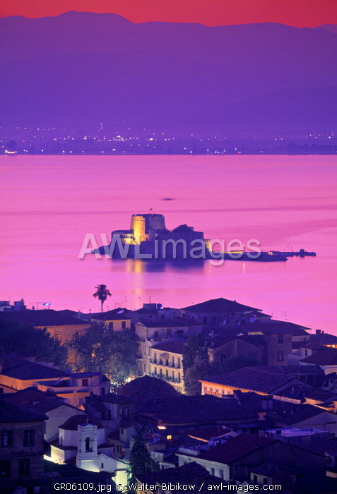 Bourtzi Island, Nafplio, Peloponnese, Greece