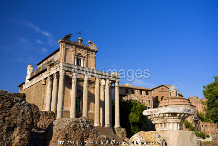 awl-images.com - Italy / Temple of Antonius and Faustina, Roman Forum, Rome, Italy