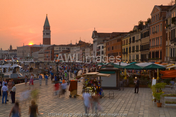 awl-images.com - Italy / Waterfront Looking Towards St. Mark's Square, Venice, Italy