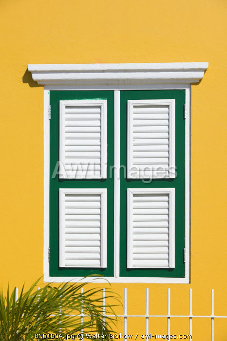 awl-images.com - Netherlands Antilles / Yellow House, Kralendijk, Bonnaire, Netherlands Antilles, Caribbean
